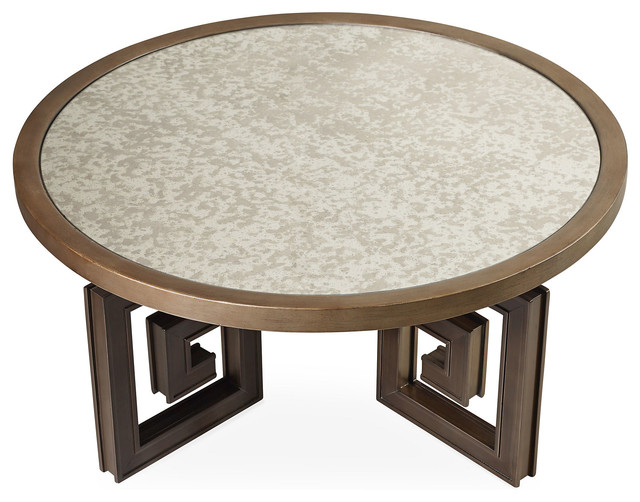 shelby 40 mirrored cocktail table gold contemporary