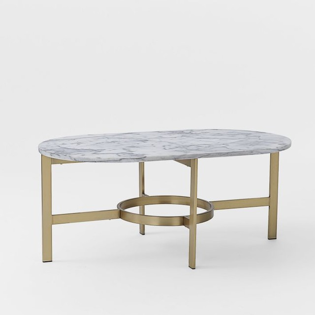 Marble Oval Coffee Table