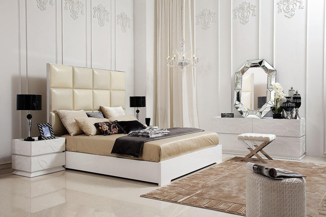 Unique Transitional And Modern Luxury Bedroom Set Furniture