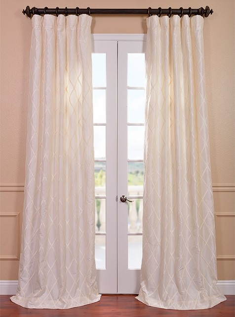 Exclusive patterned faux silk 120 inch curtain panel for 120 inch window treatments