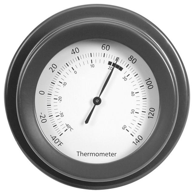 classic thermometer in charcoal modern decorative thermometers by garden trading. Black Bedroom Furniture Sets. Home Design Ideas