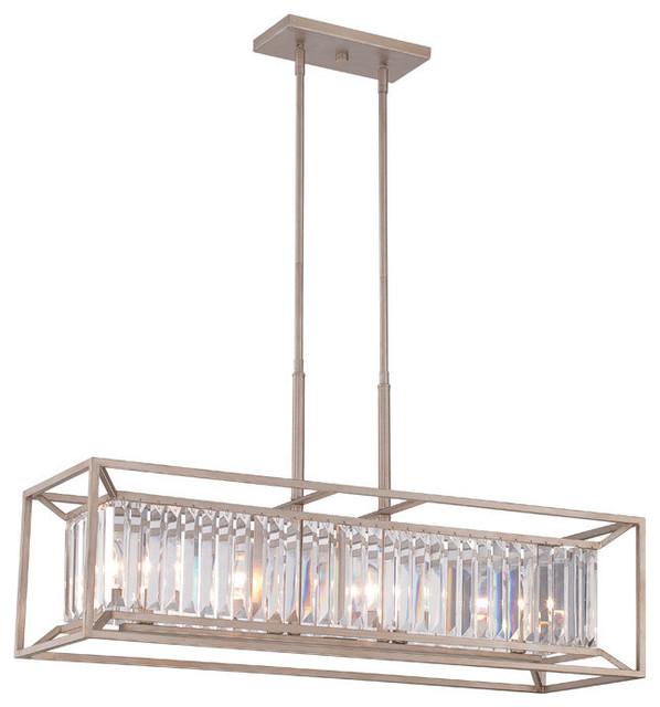 Designers Fountain 4 Light Linear Chandelier Modern
