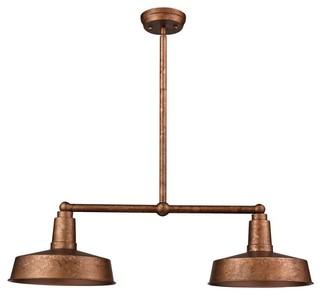 Industrial style kitchen island lighting