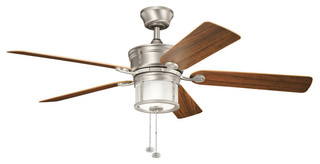 Kichler 3-Light Fan - Brushed Nickel - Traditional - Ceiling Fans - by ...