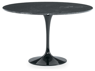 Saarinen round dining table black marble modern for Room and board saarinen table