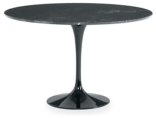 saarinen round dining table black marble modern