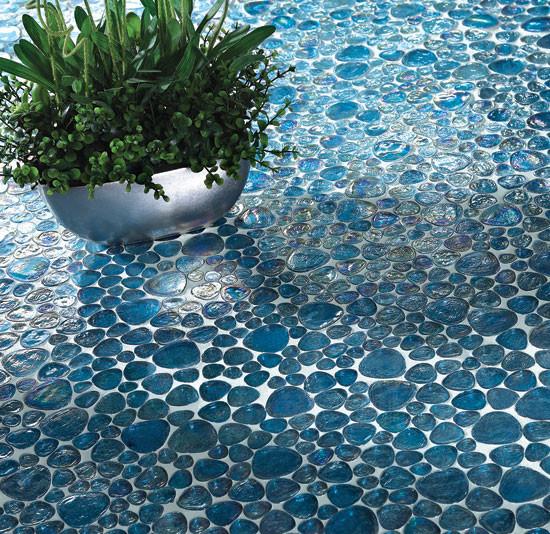 pebble glass tile modern home decor