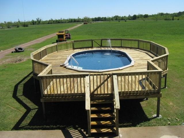 Cornelius above ground pools for Above ground pool decks houston tx