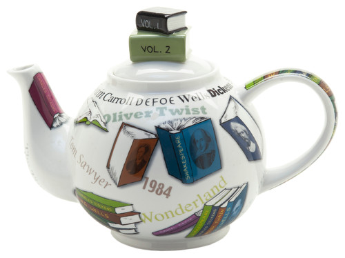 Novel-Tea Book Stack Teapot