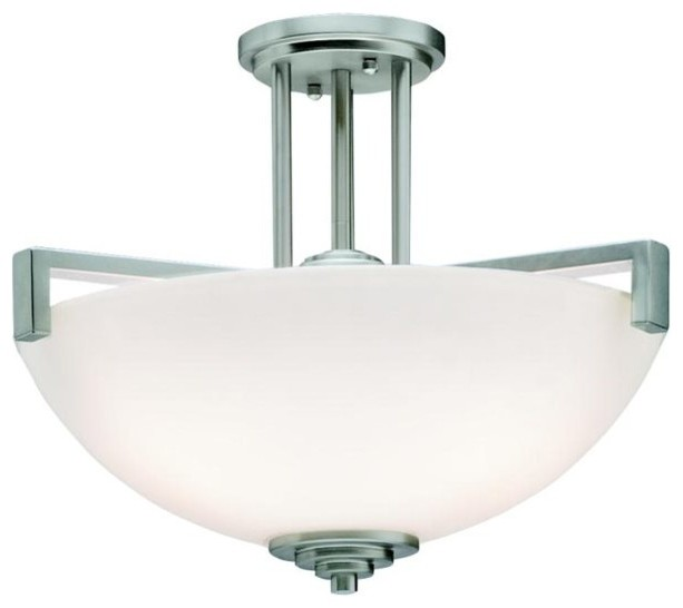 BUILDER Eileen Soft Contemporary Casual Lifestyle Semi Flush Mount Ceiling