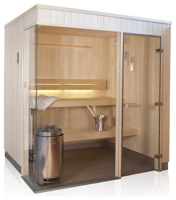 home sauna rooms the evolve glass corner saunas south. Black Bedroom Furniture Sets. Home Design Ideas