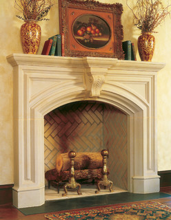 Fremont Cast Stone Fireplace Mantel Traditional Indoor
