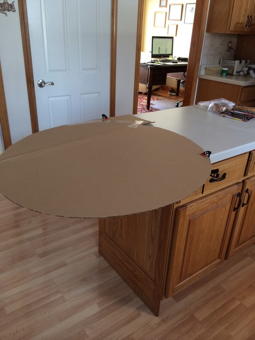 Need help with support idea for kitchen island overhang Granite counter support