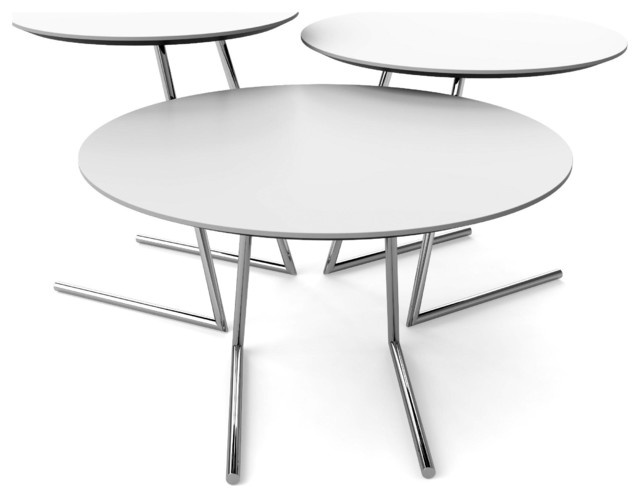 Cricket Table Set White Contemporary Coffee Table Sets By