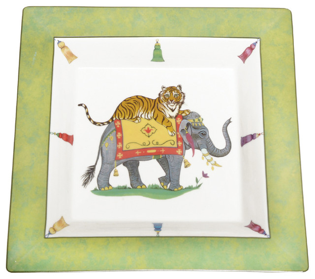 Tiger Raj Square Tray