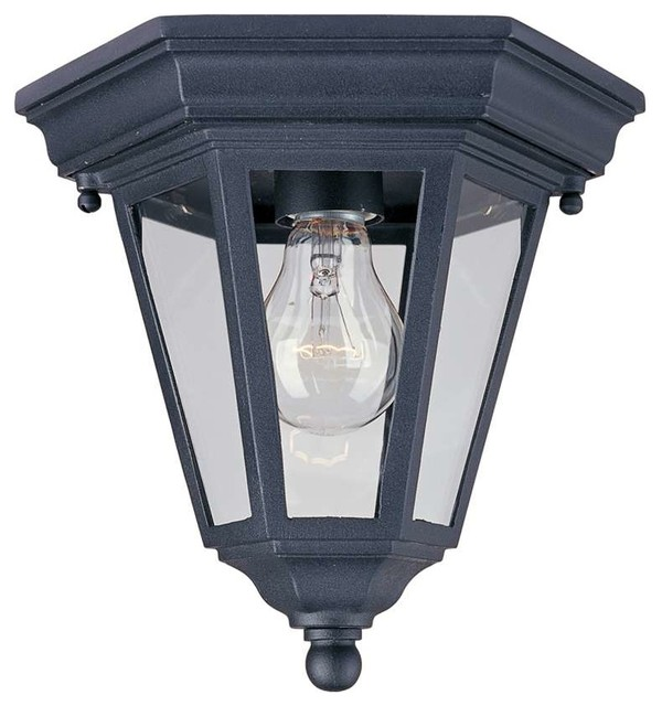 Maxim westlake cast 1 light outdoor ceiling mount black - Plafones para exteriores ...