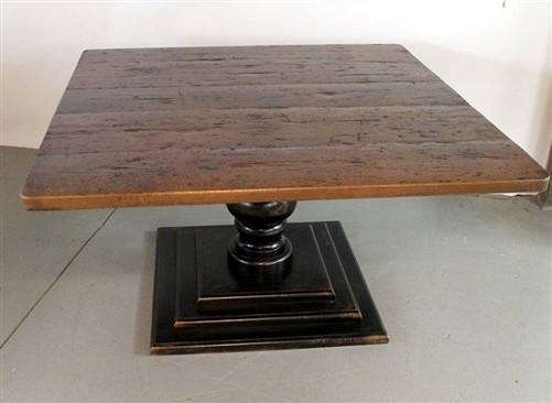 Square Dining Table From Reclaimed Old Barn Wood