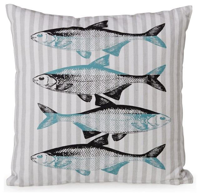 fish tex coussin motif poisson bord de mer coussin par alin a mobilier d co. Black Bedroom Furniture Sets. Home Design Ideas