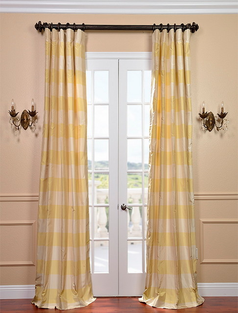 Knotts Landing Silk Taffeta Plaid Curtain Contemporary