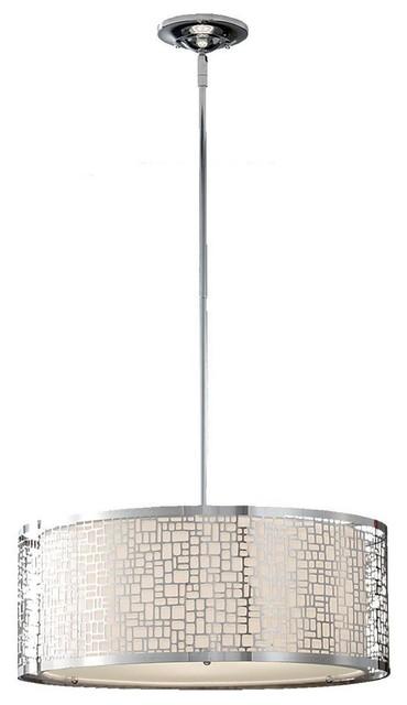 Feiss Pendant Lights Joplin 3 Light Chrome Large Pendant