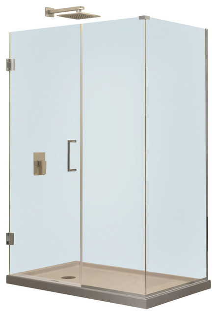 53 1 2 Wx30 3 8 Dx72 H Hinged Shower Enclosure Chrome Showe