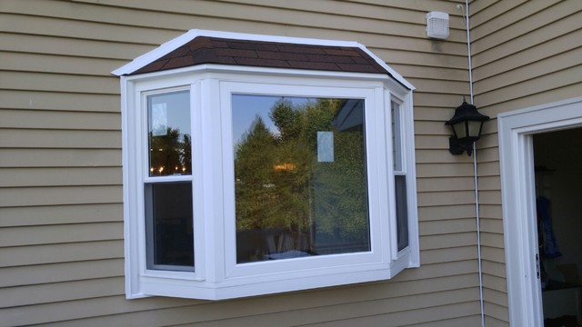 Bay window and double hung window replacement in for Window treatments for double hung windows