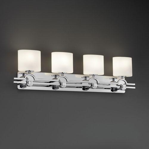 Houzz Bathroom Lighting Fixtures: Fusion Argyle Four-Light Polished Chrome Bath Fixture