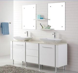 1800mm freestanding vanities catalan double basin vanity for Bathroom cabinets 1800mm