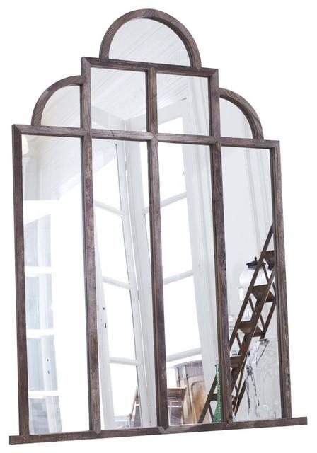 Miroir en bois d 39 orme 210x160 iseult industriel miroir mural par tikamoon for Grand miroir mural industriel