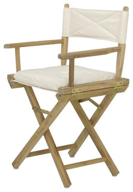 director 39 s chair regiestuhl teak baumwolle moderne chaise pliante et tabouret par. Black Bedroom Furniture Sets. Home Design Ideas