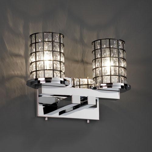 Vanity Light Bar Wiring : Wire Glass Dakota Two-Light Polished Chrome Straight-Bar Bath Fixture - Contemporary - Bathroom ...