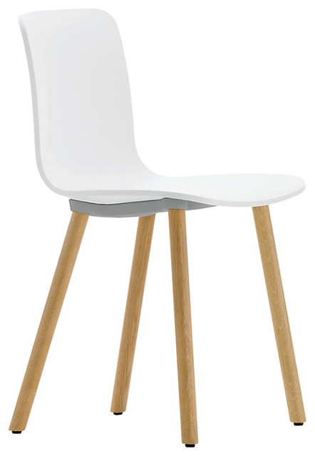 vitra hal chair white wood modern dining chairs by