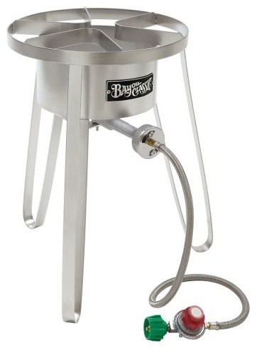 Bayou classic stainless propane burner modern outdoor for Fish cooker burner