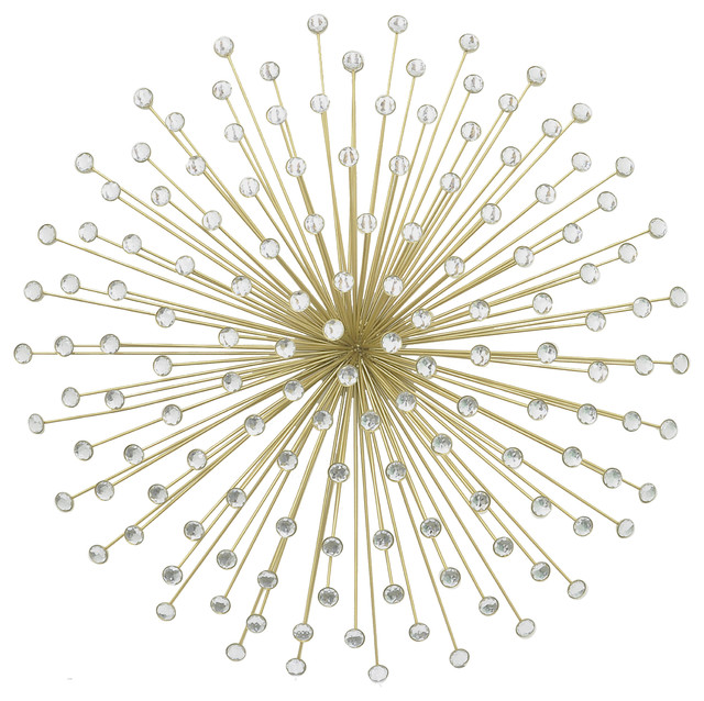 Jewelled Wall Decoration : Aurora jeweled wall decor gold sculptures by