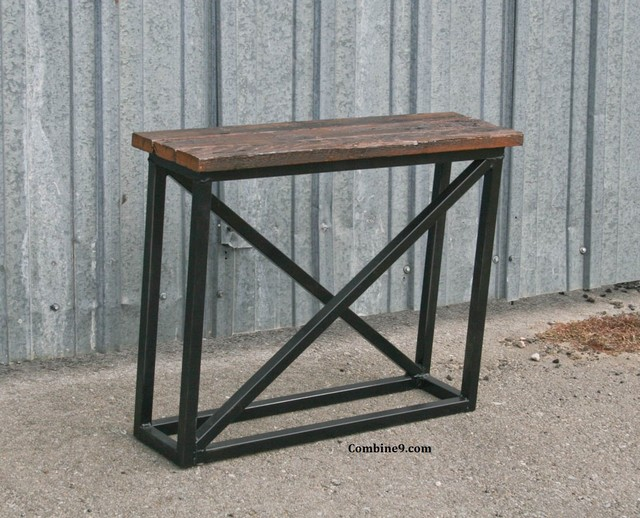 Small Console Table Side Table Vintage IndustrialMid  : industrial side tables and end tables from www.houzz.com size 640 x 518 jpeg 110kB