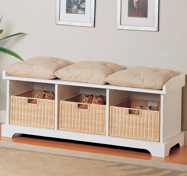 Benches Storage Bench With Baskets By Coaster Sku 501054
