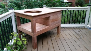 Custom Green Egg Table