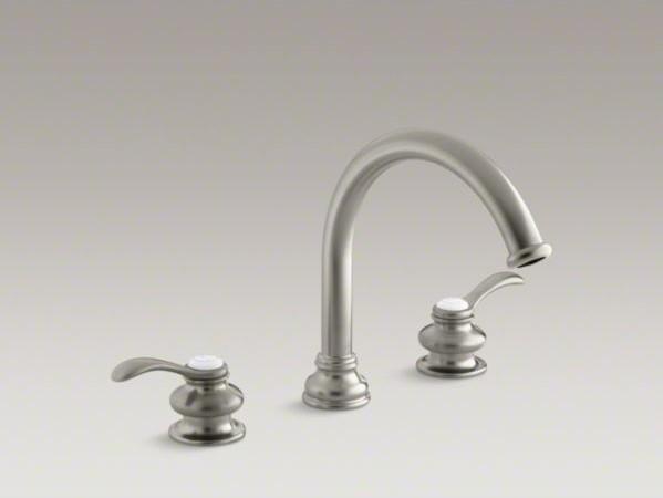 Kohler Fairfax Faucet : KOHLER Fairfax(R) deck-mount bath faucet trim with lever handles and ...