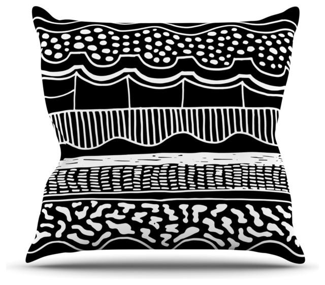 Black Tribal Throw Pillow : Vasare Nar