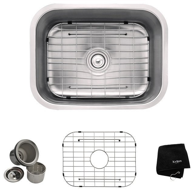 Undermount Single Bowl Stainless Steel Kitchen Sink ...