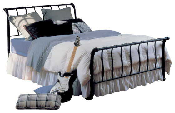 Beds Awesome Wrought Iron Sleigh Bed Wrought Iron Sleigh: Hillsdale Janis Sleigh Bed
