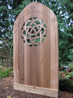 Celtic Knot Cedar Gate Eclectic Home Fencing And Gates