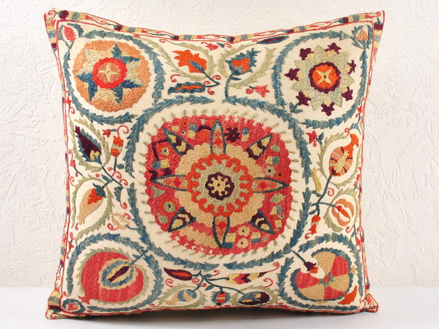 Traditional Throw Pillows : Suzani pillows, Decorative pillows, throw pillows - suzani