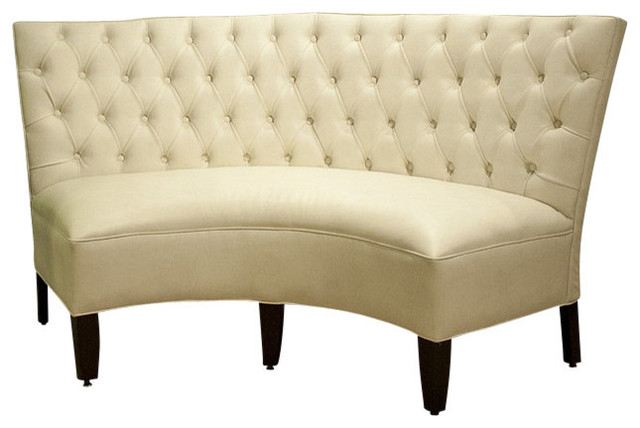 Rounded Banquette With Tufted Inside Seat Back Traditional Dining Benches By Pebblehill