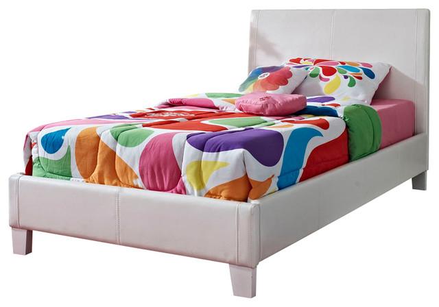 Standard Furniture Fantasia Upholstered Kids Bed In White