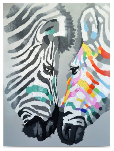Tableau decoration zebre id es de d coration et de for Tableau art contemporain design decoration