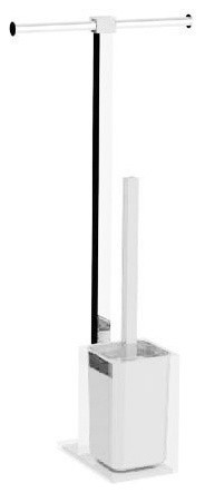 Steel Floor Standing Bathroom Butler In Resin White