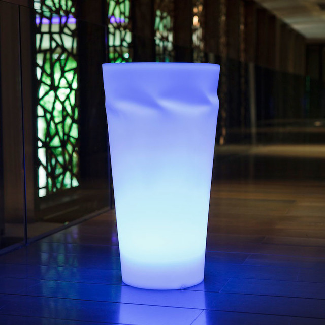 Disco outdoor portable led lamp smart green for Portable led floor lamp