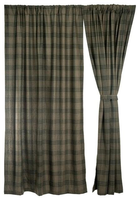 Cedar Hills Plaid Drapes Curtain Set Southwestern Curtains By Carstens