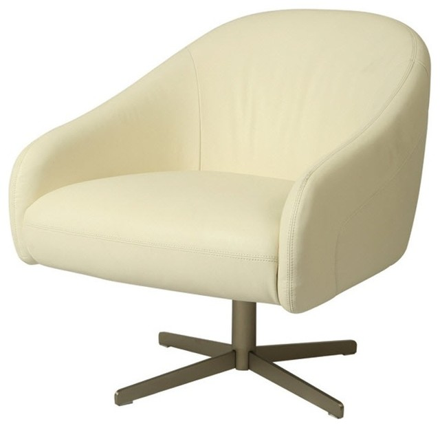 Dawsonville Club Chair In White Contemporary Armchairs Accent Chair
